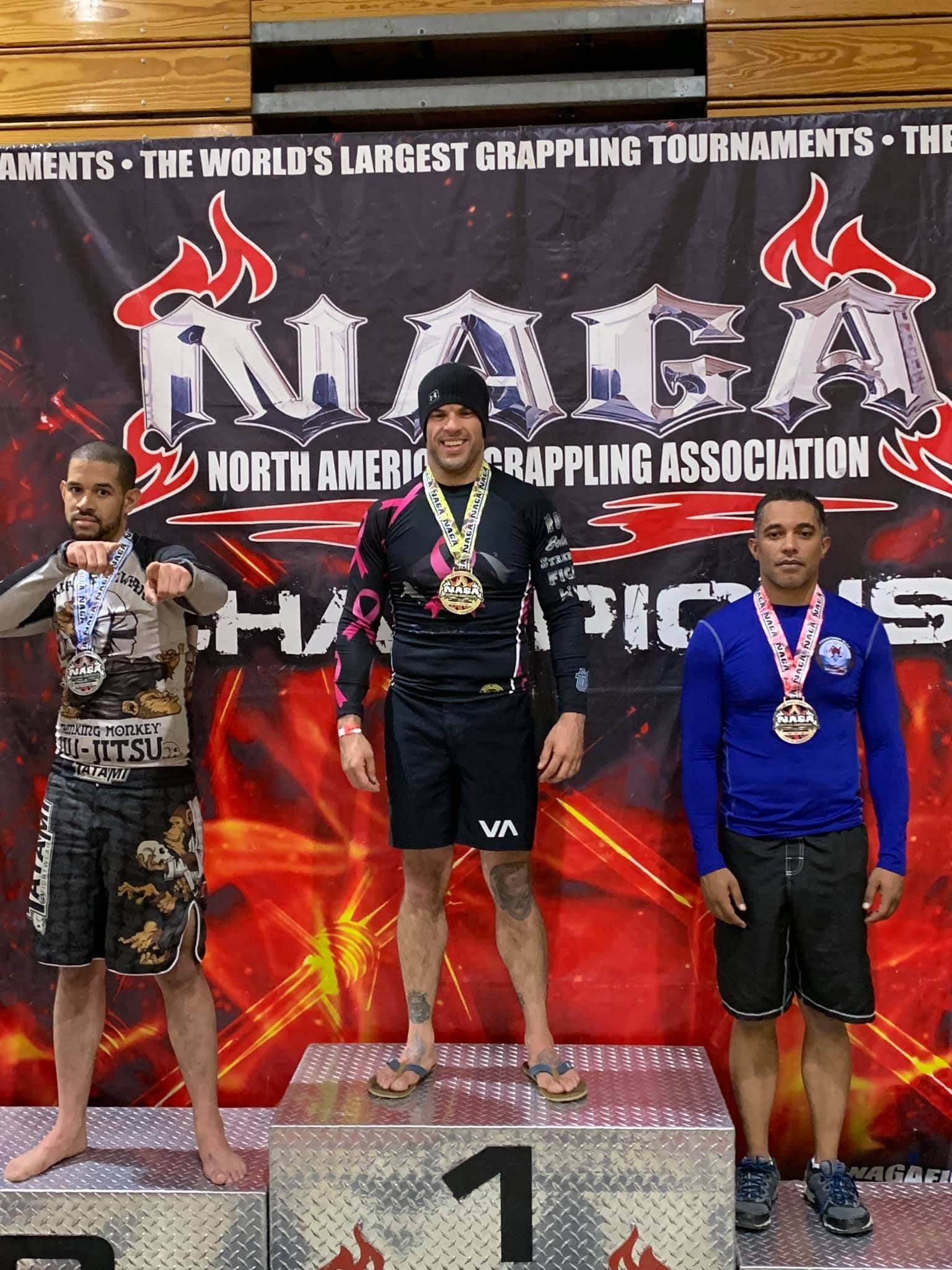 North American Grappling Association Men's Winners Podium