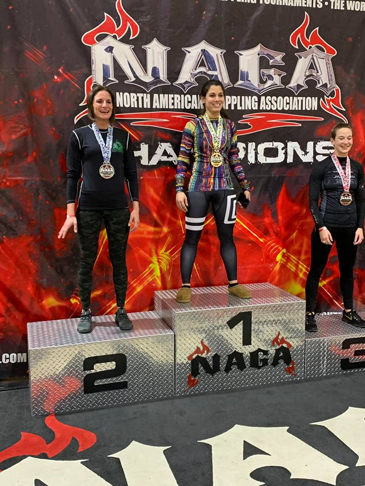 North American Grappling Association Women's Winners Podium