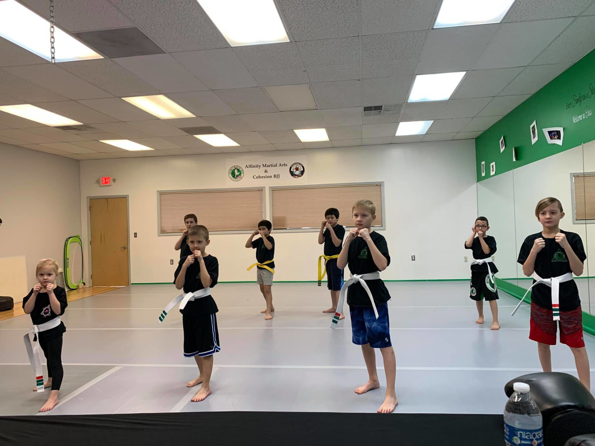 Children in martial arts class